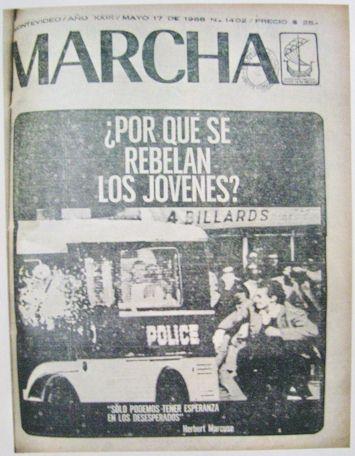 Tapa del semanario MARCHA (1968)