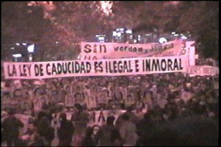 La anulación de la ley de impunidad en la calle.
