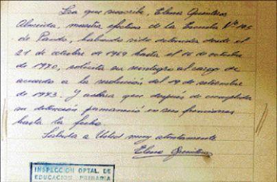 Nuevos documentos de Elena Quinteros