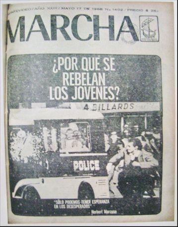 Marcha ante el Mayo francés