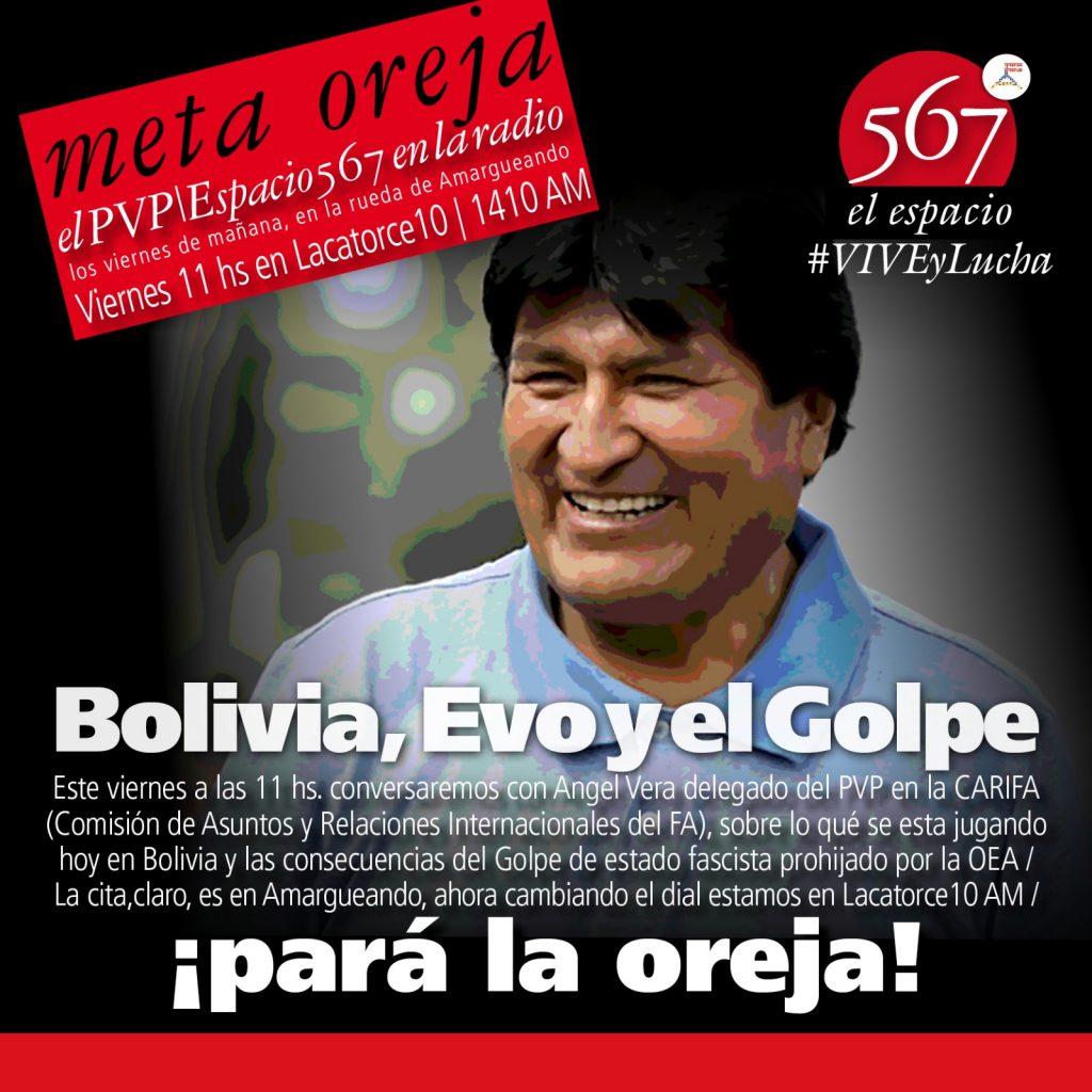 Conversamos con Angel Vera, delegado del PVP en la CARIFA (Comisión de Asuntos y Relaciones Internacionales del FA), sobre lo que se esta jugando hoy en Bolivia y las consecuencias del Golpe de Estado fascista prohijado por la OEA.